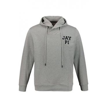 JP1880 Kapuzen-Sweatshirt Herren, grau-melange, Mode in großen Größen