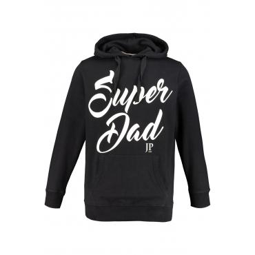 JP1880 Kapuzensweatshirt Herren, schwarz, Mode in großen Größen