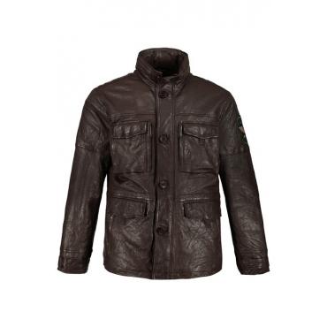 JP1880 Lederjacke Herren, braun, Leder, Mode in großen Größen