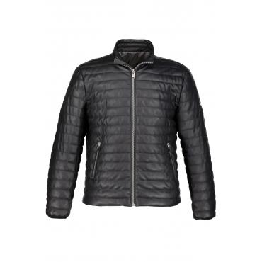 JP1880 Stepp-Jacke in Lederoptik -  Herren, schwarz, Mode in großen Größen