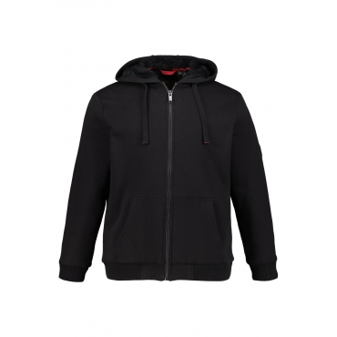 JP1880  Sweatjacke Herren XXL, schwarz, Baumwolle, Mode in großen Größen