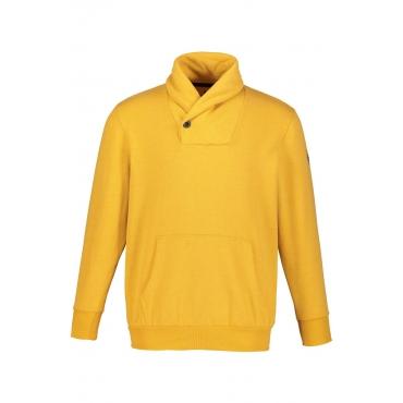 JP1880  Sweatshirt Herren XXL, gelb, Baumwolle, Mode in großen Größen