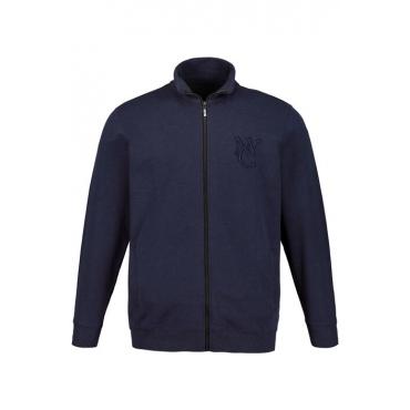 JP1880 Sweatshirt-Jacke Herren, nachtblau, Mode in großen Größen