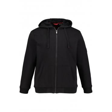 JP1880 Sweatshirt-Jacket Herren, schwarz, Mode in großen Größen