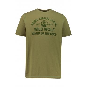 JP1880  T-Shirt Herren XXL, hellolive, Baumwolle, Mode in großen Größen