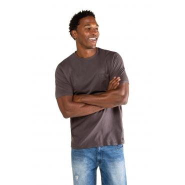 JP1880  T-Shirt Herren XXL, taupe, Baumwolle, Mode in großen Größen