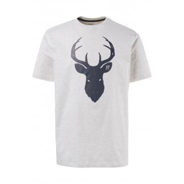 JP1880  Tshirt Herren XXL, offwhite-melange, Mode in großen Größen