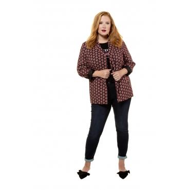 Studio Untold Blazer-Jacke Damen, schwarz, Mode in großen Größen
