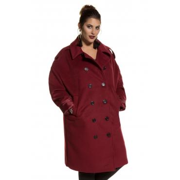 Studio Untold Coat Damen, weinrot, Mode in großen Größen