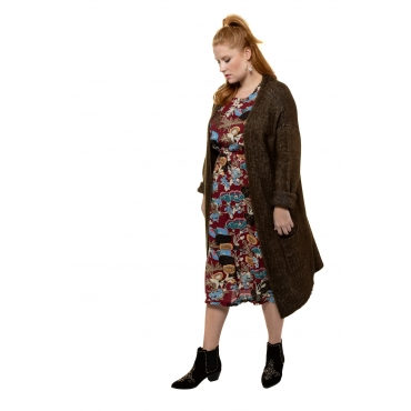 Studio Untold  Cardigan Damen Größe 54/56, olivgrün, Mode in großen Größen