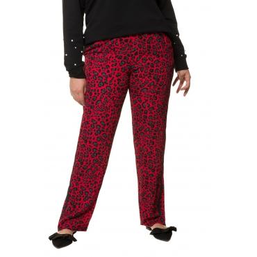 Studio Untold  Hose Damen 54, tiefrot, Polyester, Mode in großen Größen