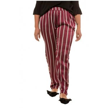 Studio Untold Damen  Hose, Streifen, Elastikbund, konisch, mehrfarbig, Gr. 54, Mode in großen Größen