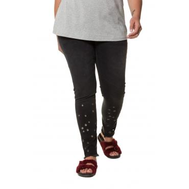 Studio Untold  Jeans Damen Größe 52, black, Mode in großen Größen