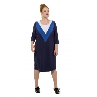 Studio Untold  Kleid Damen 50, dunkelblau, Polyester, Mode in großen Größen