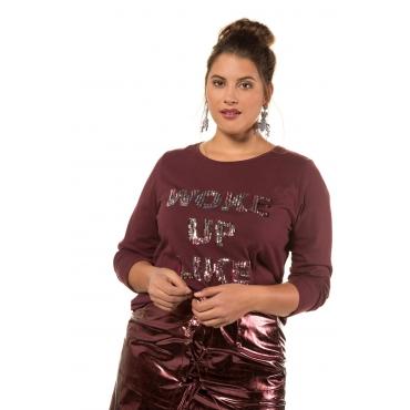 Studio Untold  Langarm-Shirt Damen 54/56, dunkel-bordeaux, Baumwolle, Mode in großen Größen