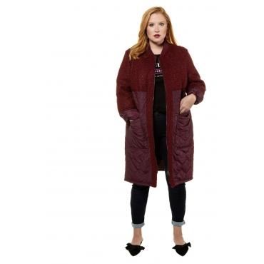 Studio Untold  Mantel Damen 54/56, dunkel-bordeaux, Polyester, Mode in großen Größen