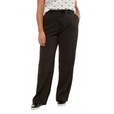 Studio Untold  Marlenehose Damen 54, schwarz, Polyester, Mode in großen Größen