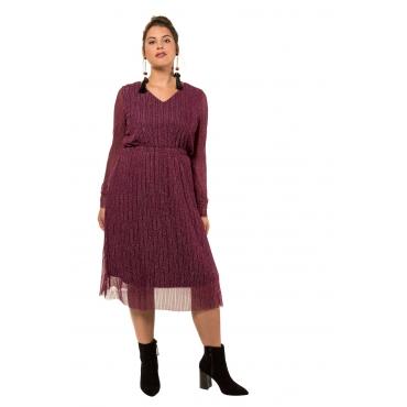 Studio Untold  Midi-Kleid Damen Größe 54/56, dunkel-bordeaux, Mode in großen Größen