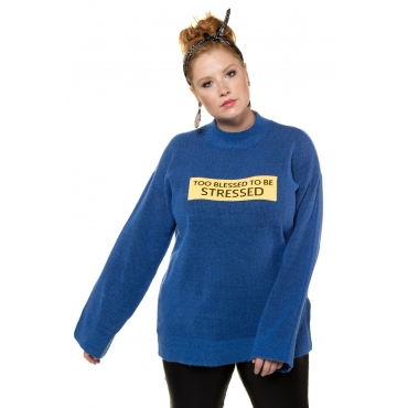 Studio Untold  Pullover Damen 54/56, blau, Polyacryl, Mode in großen Größen