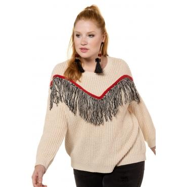 Studio Untold  Pullover Damen 54/56, offwhite, Polyacryl, Mode in großen Größen