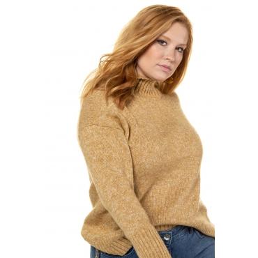 Studio Untold  Pullover Damen 54/56, senfgelb-melange, Polyacryl, Mode in großen Größen