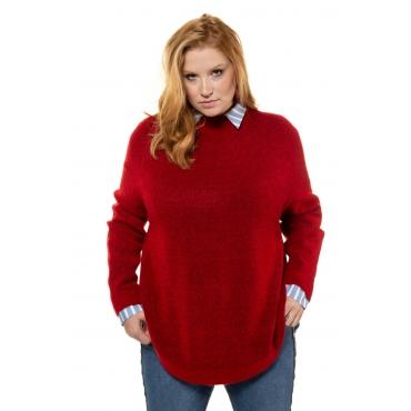 Studio Untold  Pullover Damen Größe 54/56, tomatenrot-melange, Mode in großen Größen