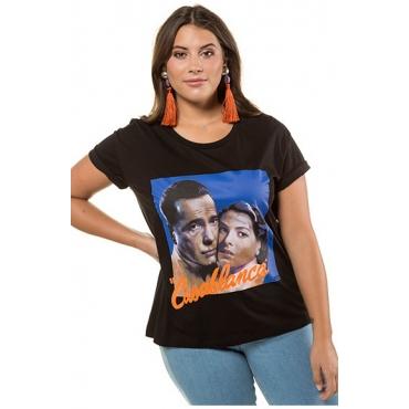 Studio Untold Damen  Shirt, Casablanca, Halbarm, schwarz, Gr. 54/56, Mode in großen Größen