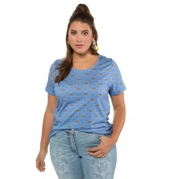 Studio Untold  Shirt Damen 54/56, himmelblau, Baumwolle, Mode in großen Größen