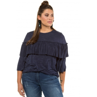 Studio Untold Shirt Damen, tiefblau, Viskose, Mode in großen Größen