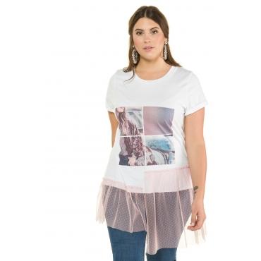 Studio Untold Shirt Damen, weiß, Baumwolle, Mode in großen Größen