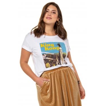 Studio Untold Damen  Shirt, King Kong, Halbarm, offwhite, Gr. 54/56, Mode in großen Größen