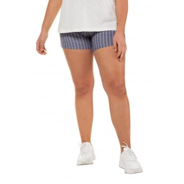 Studio Untold Damen  Shorts, Streifen, gerades Bein, palastblau, Gr. 54, Mode in großen Größen