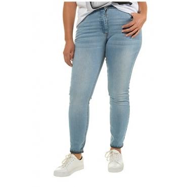 Studio Untold Damen  Skinny, Basic-Jeans, schmale 5-Pocket, hellblau, Gr. 52, Mode in großen Größen