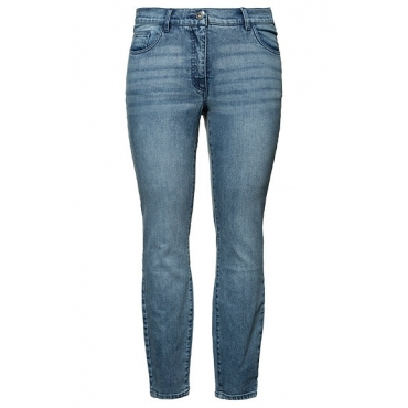 Studio Untold Damen  Skinny Jeans, 5-Pocket Form, blue denim, Gr. 54, Mode in großen Größen
