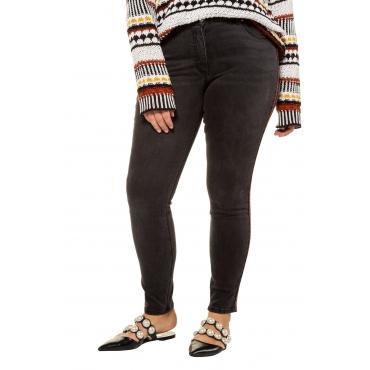 Studio Untold Damen  Skinny Jeans, Streifengalon, schmale 5-Pocket, darkblue, Gr. 54, Mode in großen Größen