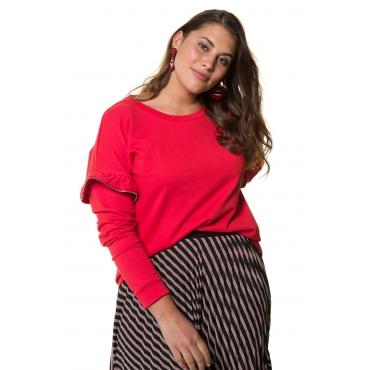 Studio Untold Sweatshirt Damen, tiefrot, Baumwolle, Mode in großen Größen