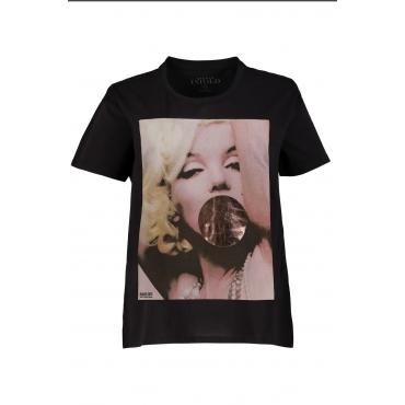 Studio Untold  T-Shirt Damen 54/56, schwarz, Baumwolle, Mode in großen Größen