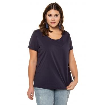 Studio Untold  T-Shirt Damen 58/60, nachtblau, Baumwolle, Mode in großen Größen