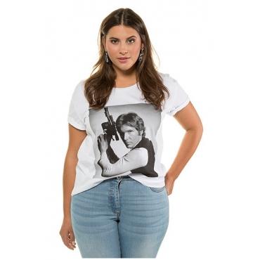 Studio Untold Damen  T-Shirt, Han Solo, Halbarm, offwhite, Gr. 54/56, Mode in großen Größen
