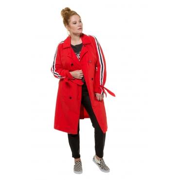Studio Untold Trenchcoat Damen, tiefrot, Baumwolle, Mode in großen Größen