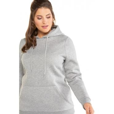 Studio Untold Hoodie Damen, grau-melange, Baumwolle, Mode in großen Größen