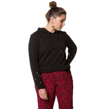 Studio Untold Kapuzen-Sweatshirt Damen, schwarz, Mode in großen Größen