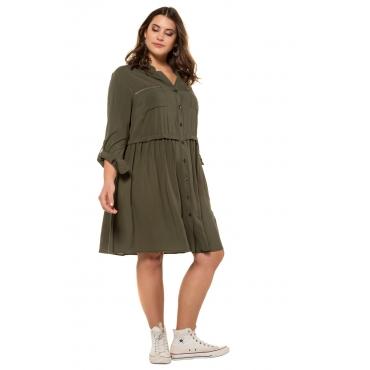 Studio Untold Kleid Damen, antikblau, Viskose, Mode in großen Größen