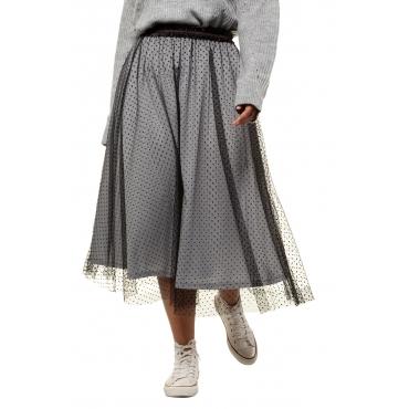 Studio Untold Mesh-Rock Damen, schwarz, Mode in großen Größen