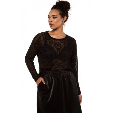 Studio Untold Mesh-Shirt Damen, schwarz, Polyester, Mode in großen Größen