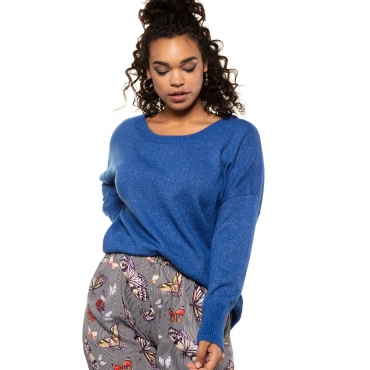 Studio Untold  Oversized-Pullover Damen 54/56, nautikblau, Mode in großen Größen