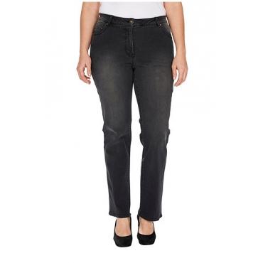 Studio Untold Studio Untold Jeans, Black Denim, Straight, gerades Bein, durch Stretch super bequem, Schwarz, Gr. 42,44,46,48,50,52,54