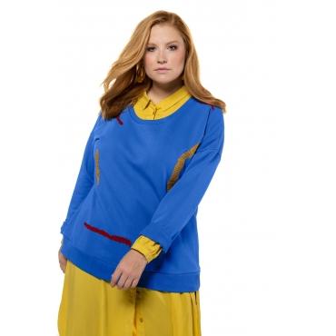 Studio Untold  Sweat-Shirt Damen 54/56, blau, Mode in großen Größen