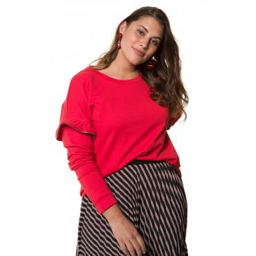 Studio Untold Sweat-Shirt Damen, tiefrot, Mode in großen Größen