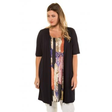 Ulla Popken  2-in-1-Longshirt Damen Größe 58/60, schwarz, Mode in großen Größen